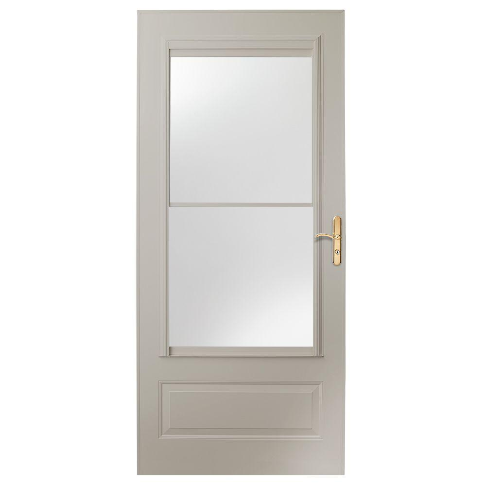 home depot storm doors 36 in x 80 in 400 series sandtone universal self storing 10282