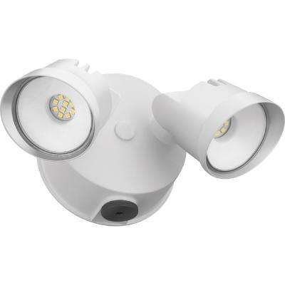 Adjustable Twin Head White 120-Watt 4000K Outdoor Photocell Dusk to Dawn Integrated LED Wall Mount Flood Light
