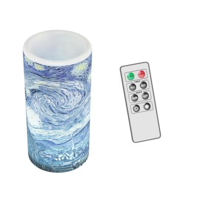 Starry Night LED Flameless Candle with Remote Control