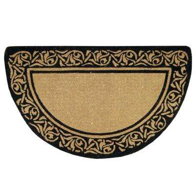 Bella Plain 22 in. x 36 in. Coir Door Mat