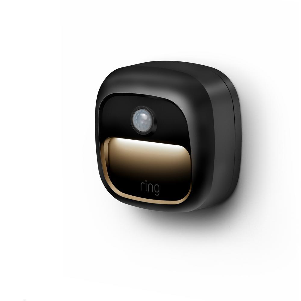 Smart Lighting Battery Black Motion Activated Integrated LED Deck Step Light