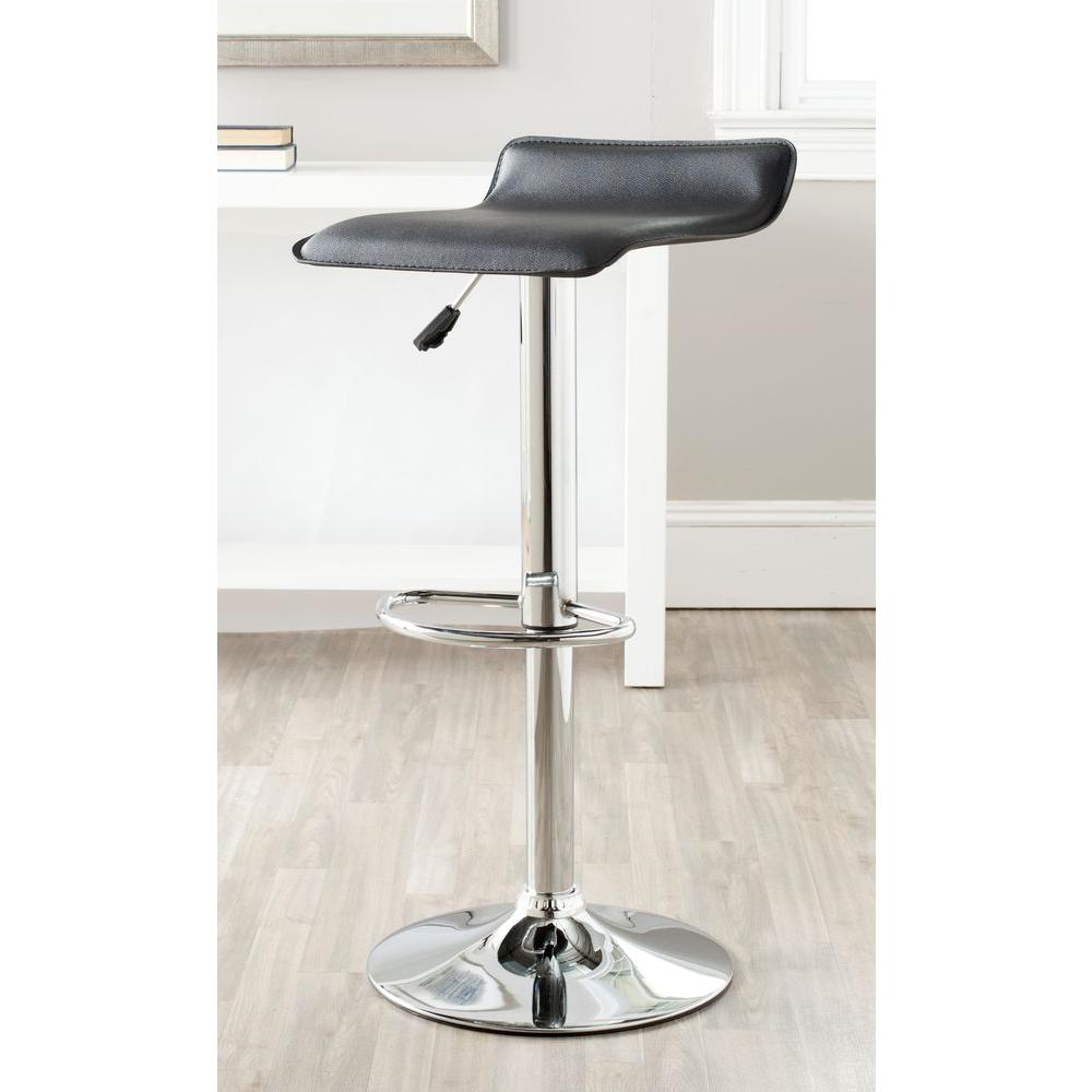 Safavieh Sheba Adjustable Height Chrome Swivel Cushioned Bar Stool