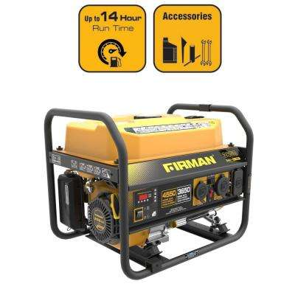 3650/4550-Watt Gas Powered Portable Generator