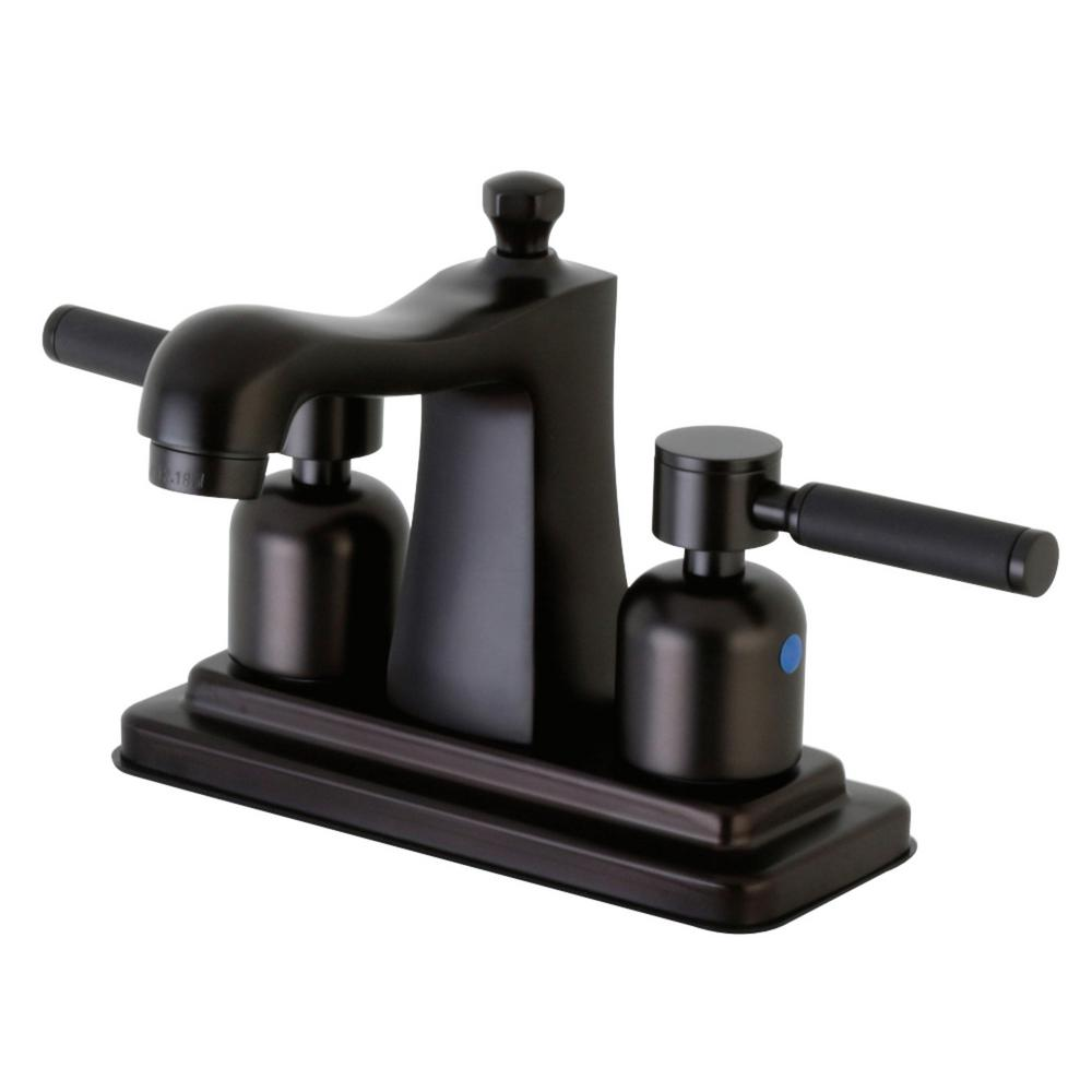 Kingston Brass Kaiser 4 in. Centerset 2-Handle Bathroom Faucet in Oil Rubbed Bronze