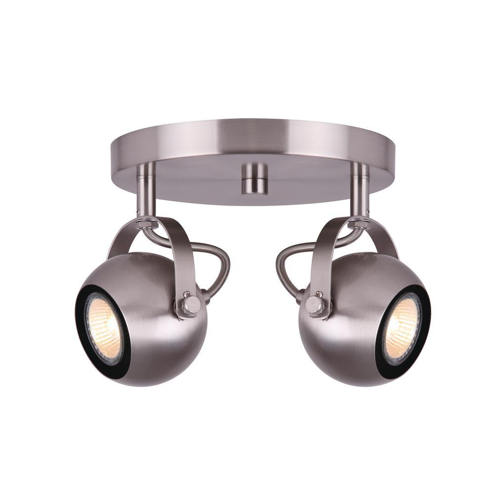 Murphy 0.77 ft. 2-Light Brushed Nickel Halogen or LED Track Lighting Kit