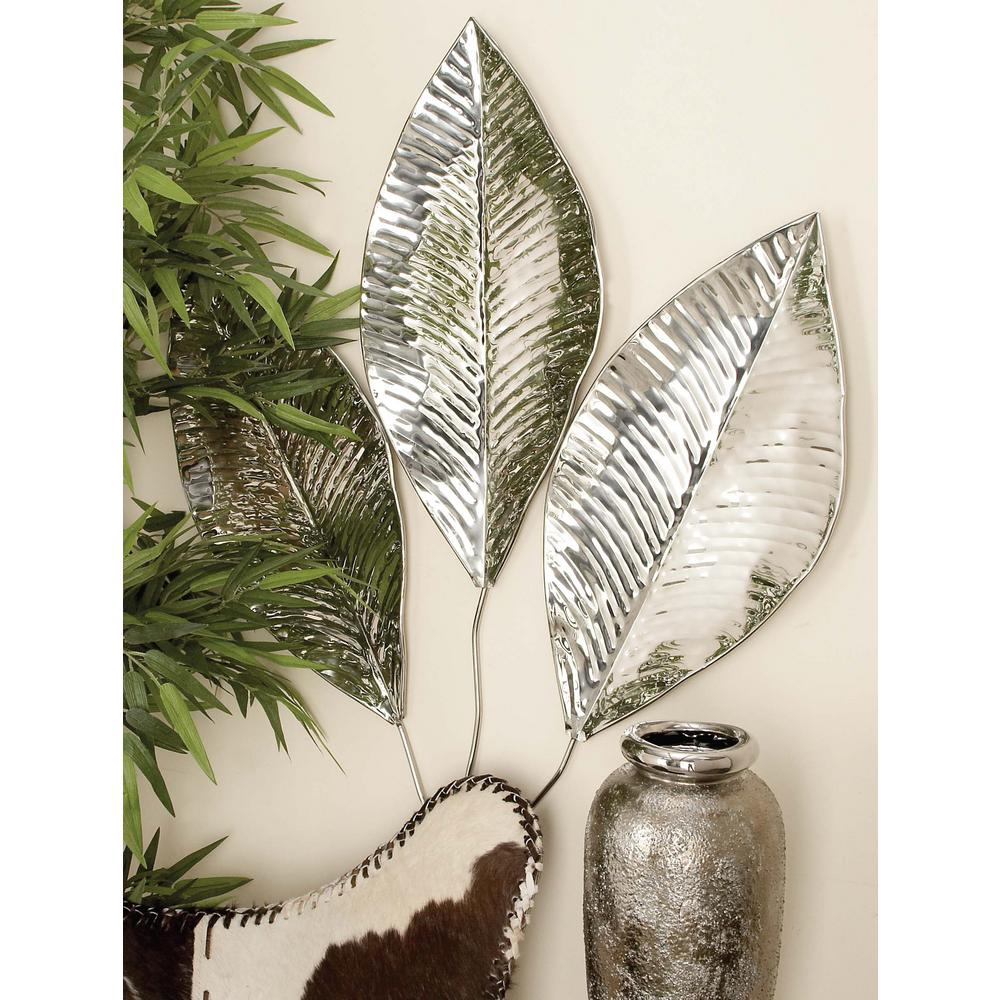 Stainless Steel Triple Leaf Wall Decor 90860 The Home Depot