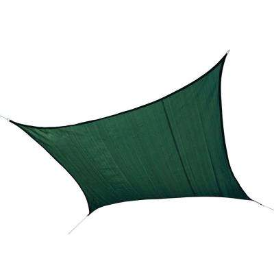 16 ft. x 16 ft. Evergreen Square Heavy Weight Sun Shade Sail (Poles Not Included)