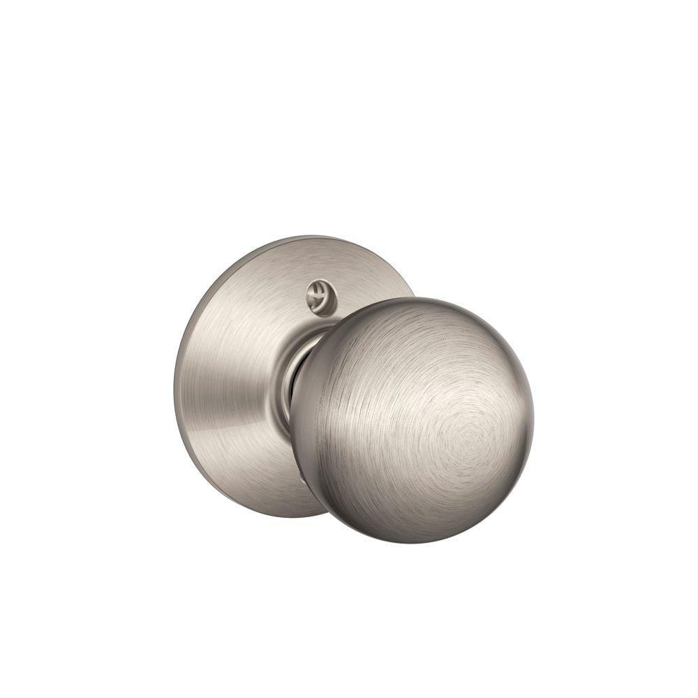 Schlage Satin Nickel Orbit Dummy Knob