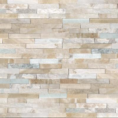 Malibu Golden Panel 6 in. x 24 in. Natural Quartzite Wall Tile (15 cases / 60 sq. ft. / pallet)
