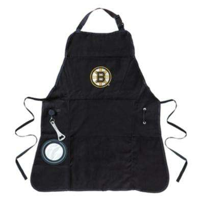 Boston Bruins NHL 24 in. x 31 in. Cotton Canvas 5-Pocket Grilling Apron with Bottle Holder