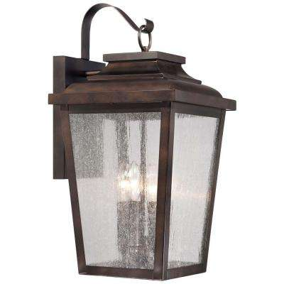 Irvington Manor 4-Light Chelsea Bronze Outdoor Wall Lantern Sconce