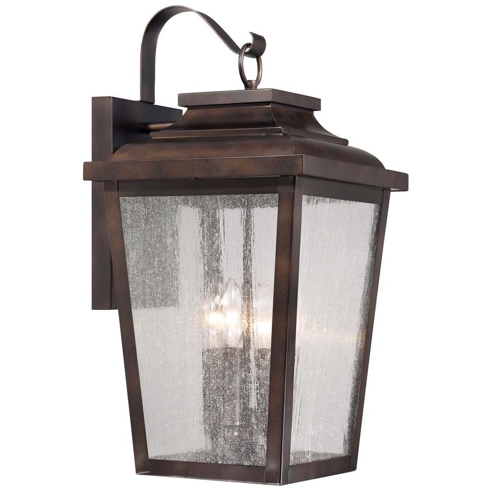 Irvington Manor 4-Light Chelsea Bronze Outdoor Wall Lantern Sconce