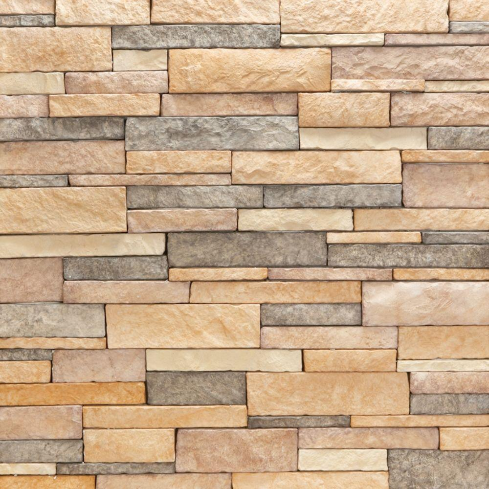 Stacked Stone Wall Tile Home Depot - Tile Designs
