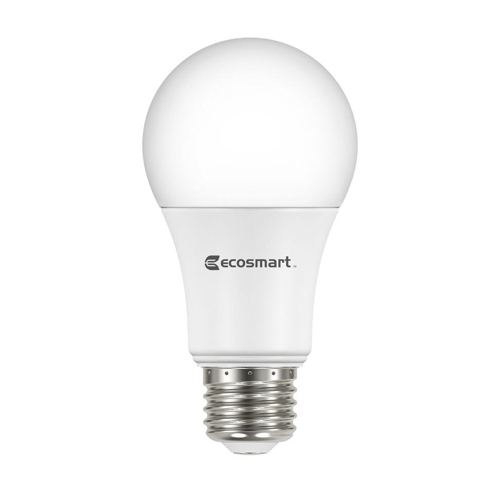 Ecosmart 60w Equivalent Daylight A19 Basic Non Dimmable Led Light Bulb 8 Pack 5csa800stq103