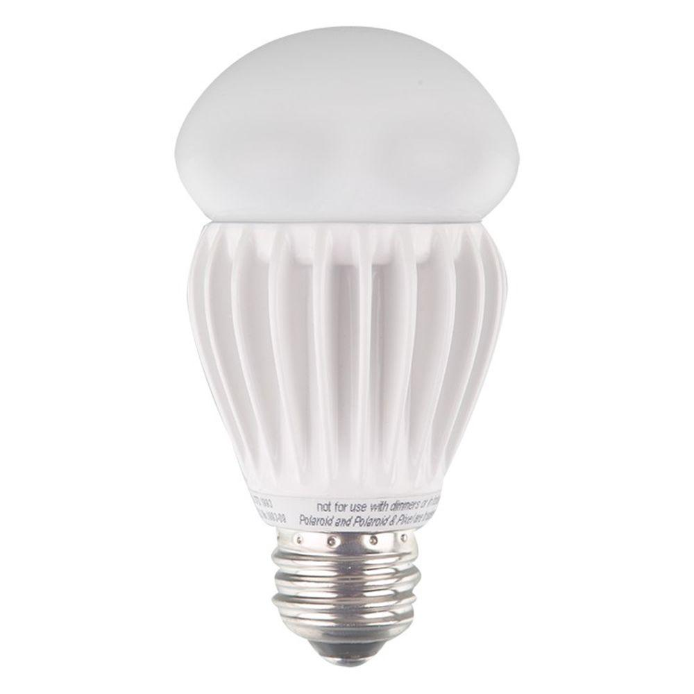 Polaroid Lighting 60W Equivalent Bright White (3000K) A19 Non-Dimmable Omni Directional LED Light Bulb