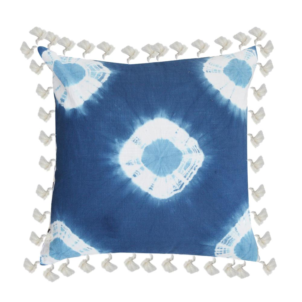 A1HC Anthea Blue Tie and Die 20 in. Decorative Pillow
