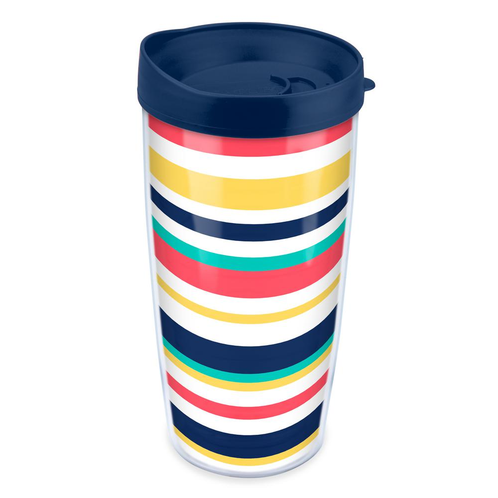 Classic Beach Stripes 16 oz. Tumbler