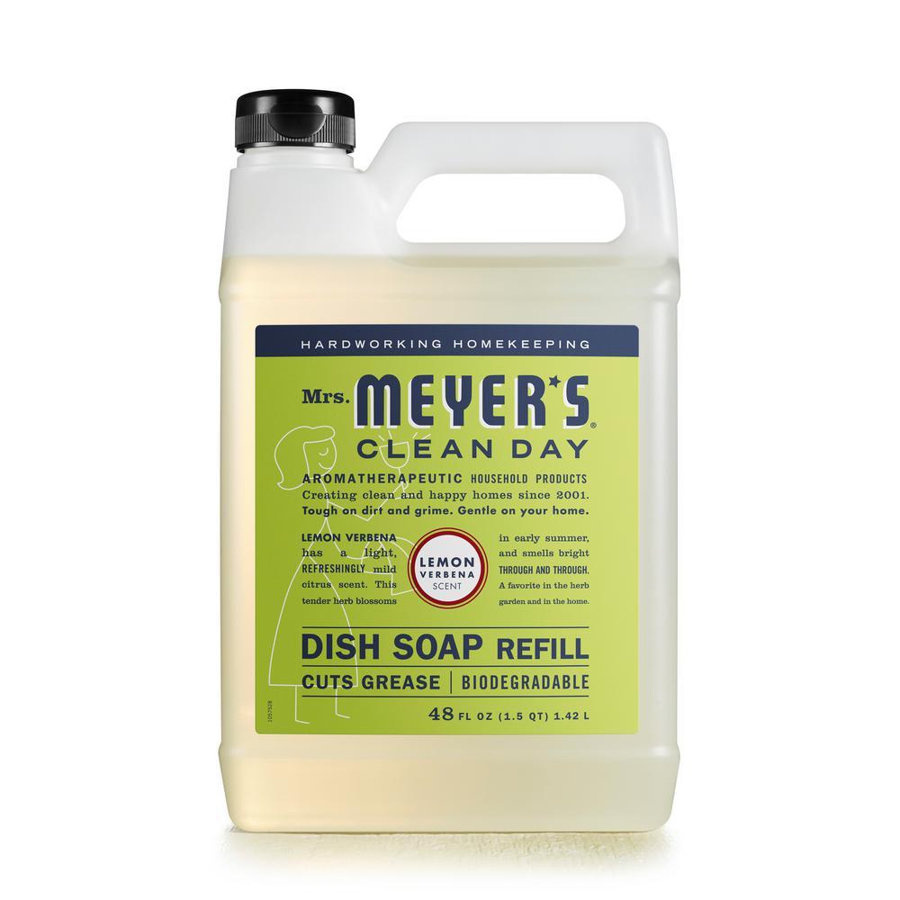 Mrs. Meyer's Clean Day 48 oz Lemon Verbena Scent Liquid Dish Soap