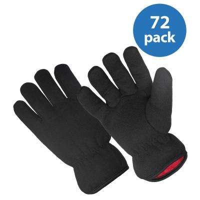 Red Fleece-Lined Brown Jersey Glove (72-Pair Value Pack)