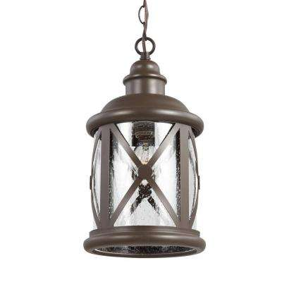 Lakeview 1-Light Antique Bronze Outdoor Pendant