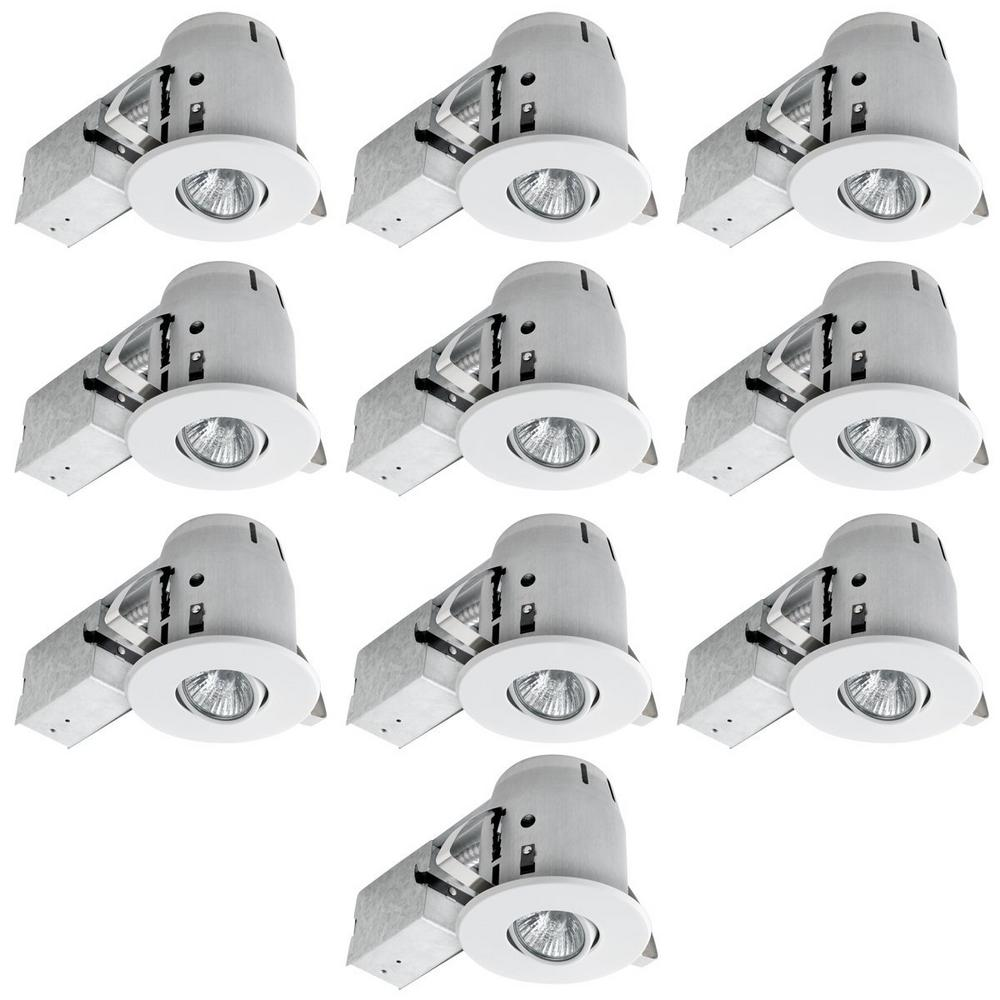 White Dimmable Recessed Lighting Kit (10 Pack)