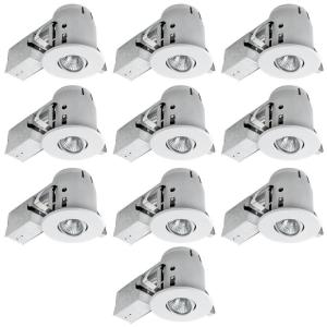 Globe Electric 4 inch White Dimmable Recessed Lighting Kit (10-Pack) by Globe Electric
