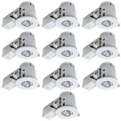 4 in. White Dimmable Recessed Lighting Kit (10-Pack)