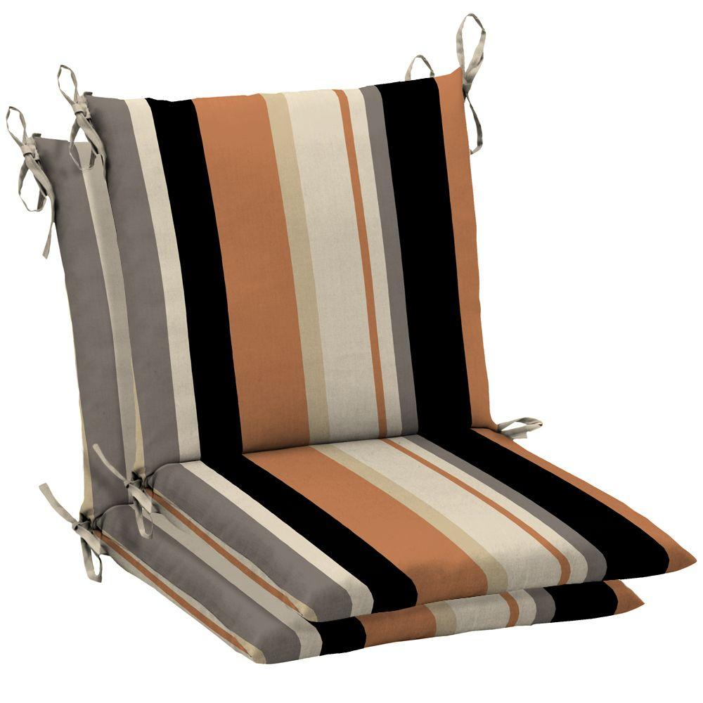 Arden Holden Stripe Pawn Mid Back Outdoor Chair Cushion 2 Pack-DISCONTINUED