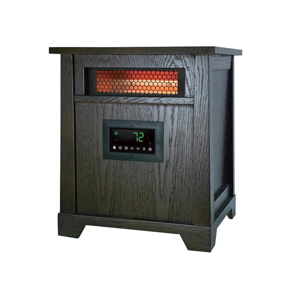 Delightful 1500 Watt 6 Element Wood Infrared Portable Heater