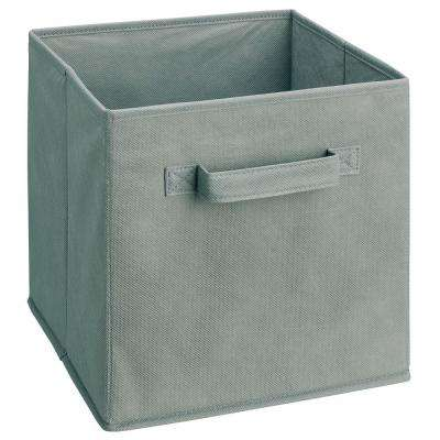Cubeicals 11 in. H x 10.5 in. W x 10.5 in. D Fabric Storage Bin in Gray