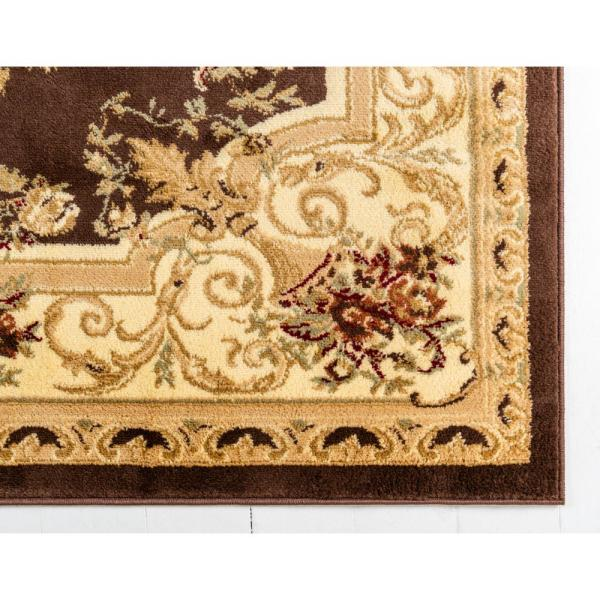 Unique Loom Versailles Henry Brown 5 0 X 8 0 Area Rug 3123525 The Home Depot