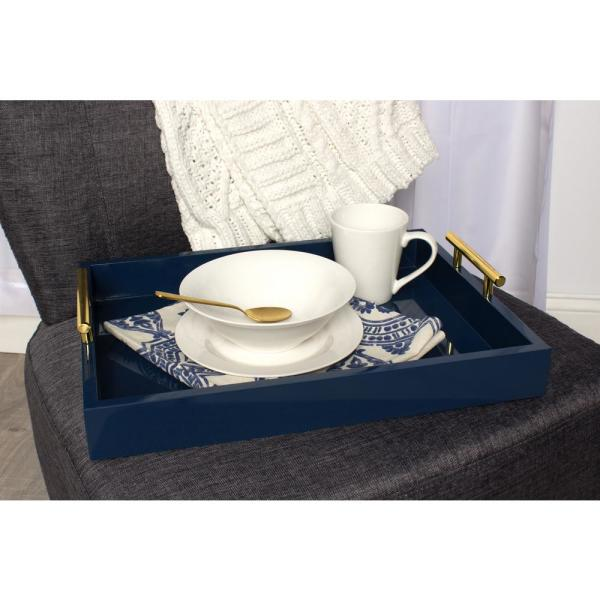 Kate and Laurel - Lipton Navy Blue Decorative Tray