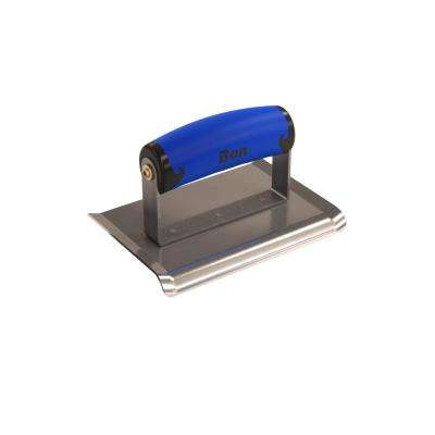 6 in. x 4 in. Curved End Concrete Edger with Comfort Wave Handle