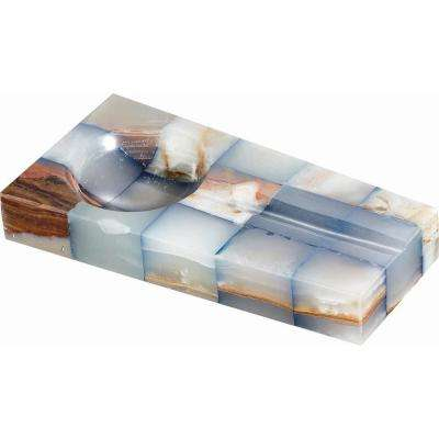 Cubic Onyx Cigar Ashtray with Single Cigar Rest