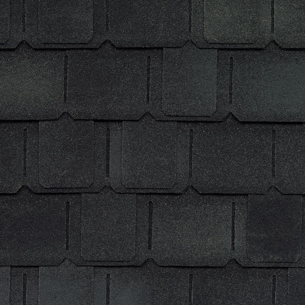 Camelot II Charcoal Designer Laminated Architectural Shingles (25 sq. ft. per Bundle) (14-pieces)