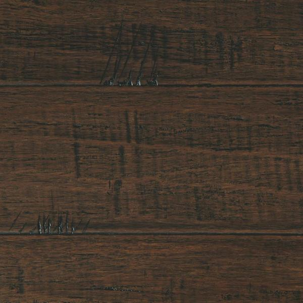 Hand Scraped Strand Woven Wellington 1/2 in. T x 7-1/2 in. W x 72-7/8 in. L Engineered Click Bamboo Flooring