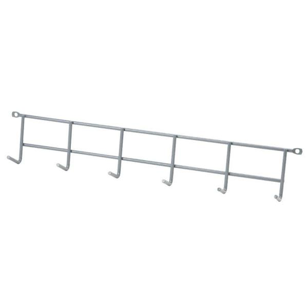 16 in. Gray Steel Wall Mounted Household Storage Hanger 25 lbs
