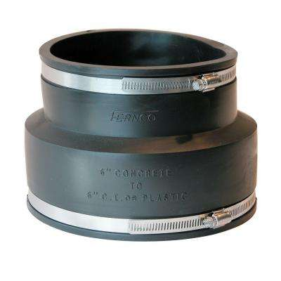 6 in. x 6 in. PVC Concrete to C.I. or Plastic Flexible Coupling