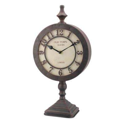16 in. x 5 in. Old Town Round Tabletop Clock
