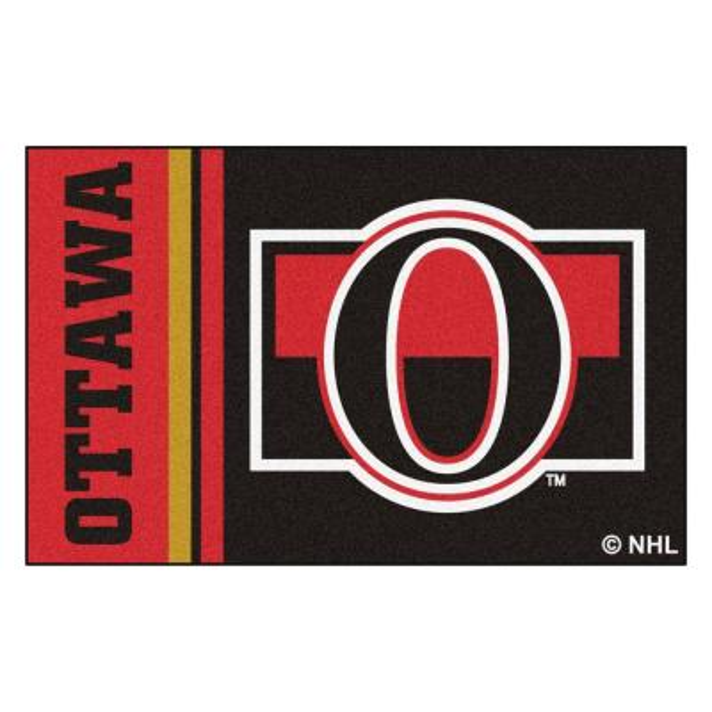 NHL - Ottawa Senators Black 2 ft. x 3 ft. Indoor Area Rug
