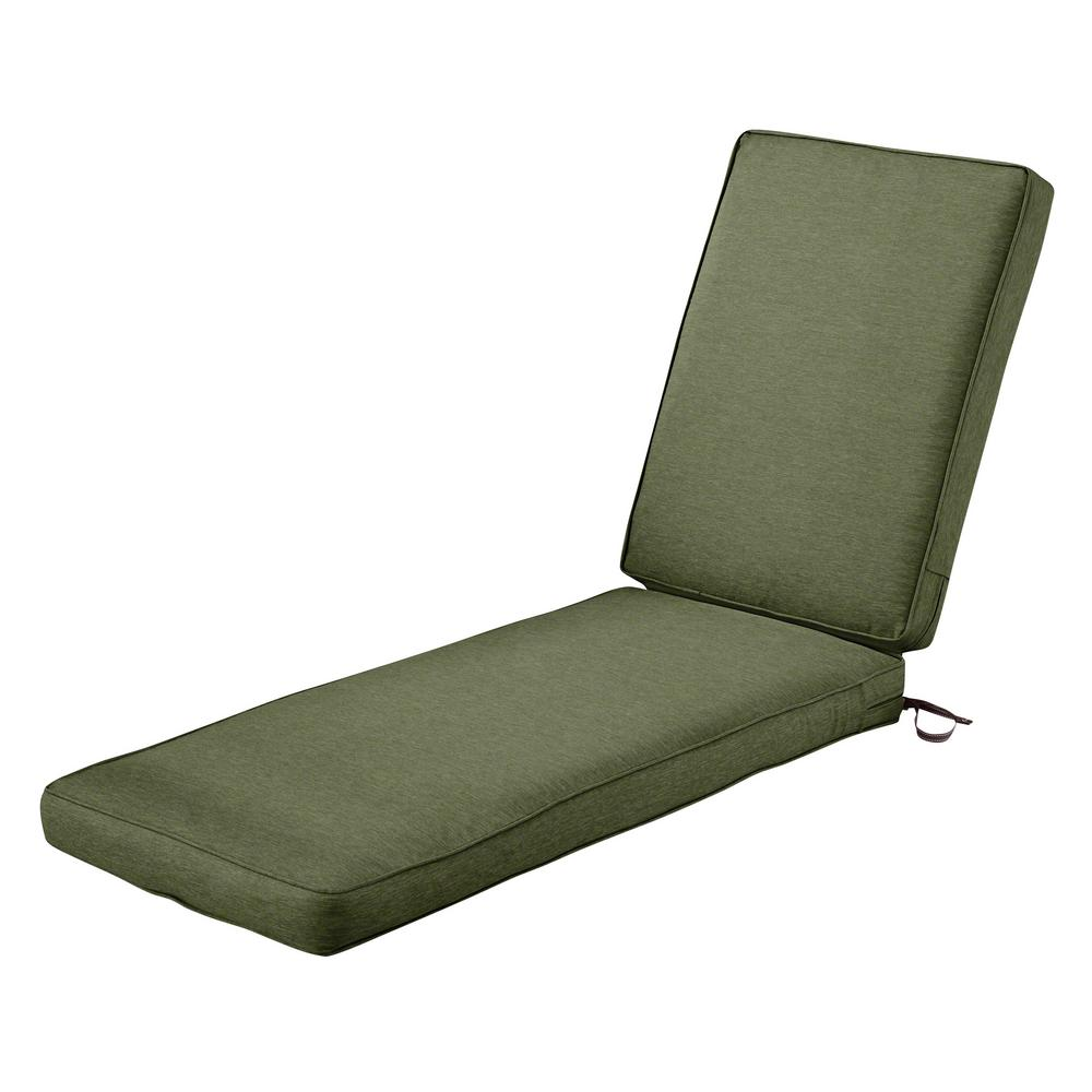 Montlake FadeSafe Heather Fern Outdoor Chaise Lounge Cushion
