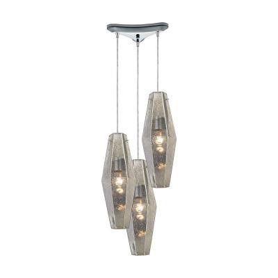Pelham 3-Light Polished Chrome Pendant