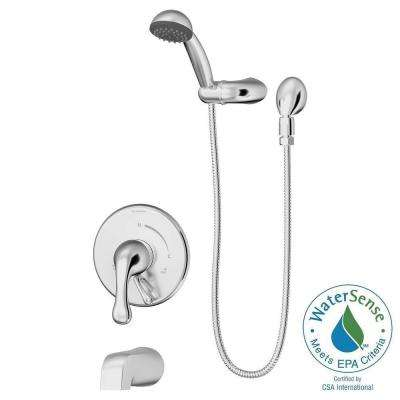 Unity 1-Spray Tub/Hand Shower System in Chrome (Valve Included)