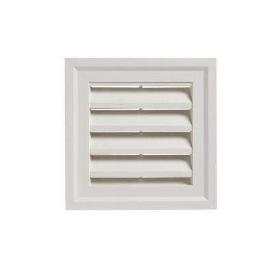 14 in. x 14 in. White Square Gable Vent