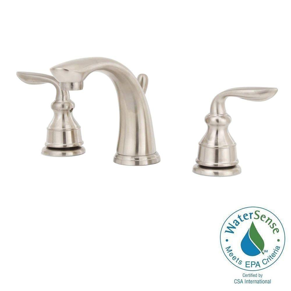 Pfister Avalon 8 in. Widespread 2-Handle High-Arc Bathroom Faucet in Brushed Nickel