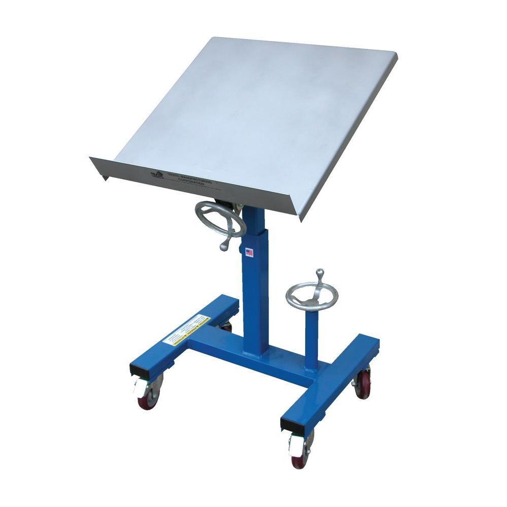 Vestil 300 lb. 24 in. x 24 in. Mobile Tilting Work Table