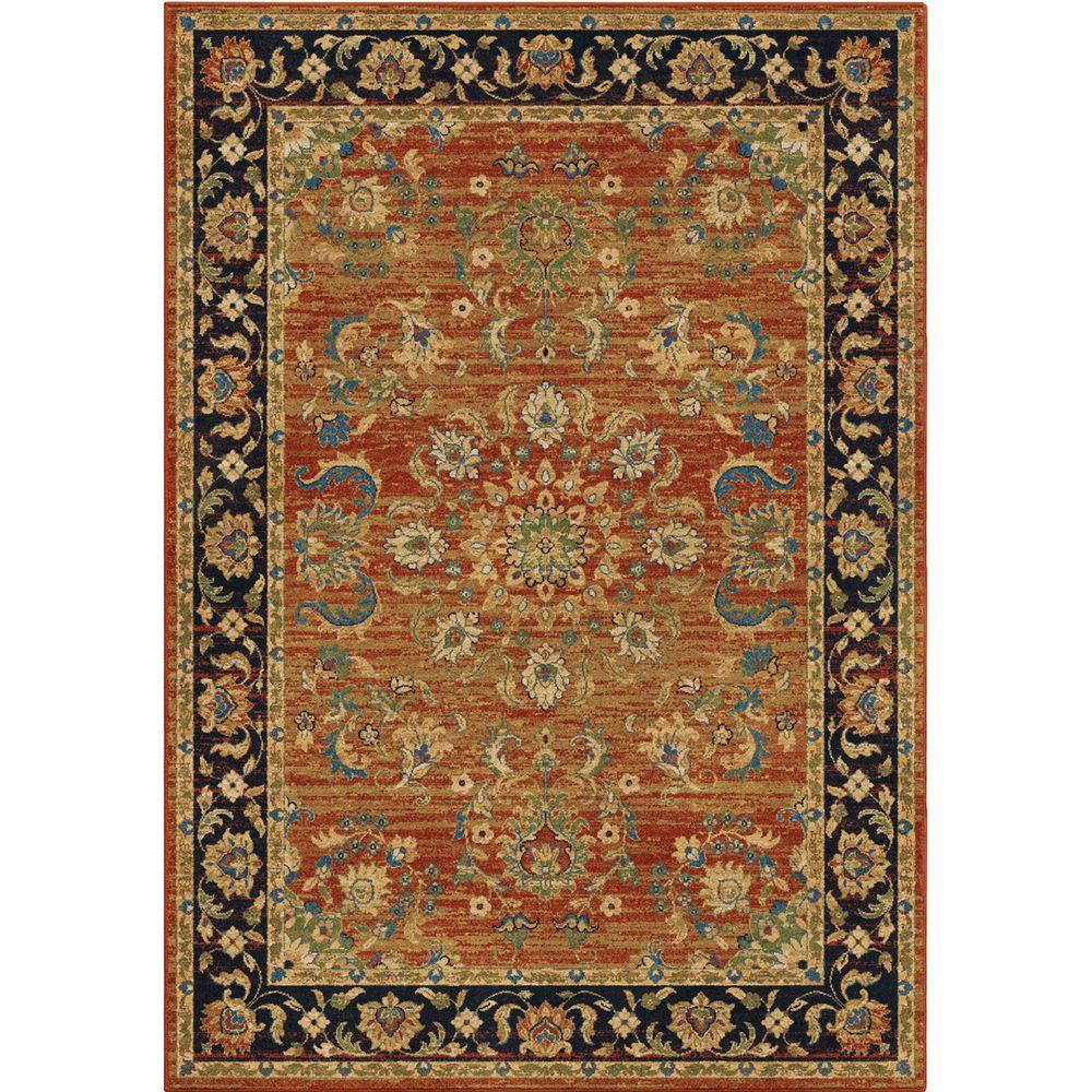Orian Rugs Twisted Tradition Brick 5 Ft. X 8 Ft. Indoor