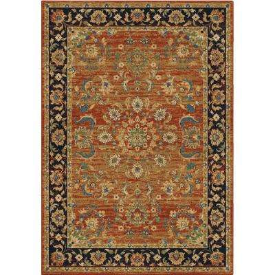 Twisted Tradition Brick 5 ft. x 8 ft. Indoor Area Rug