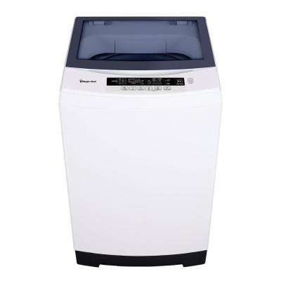 3.0 cu. ft. Compact Top Load Washer with Stainless Steel Drum in White
