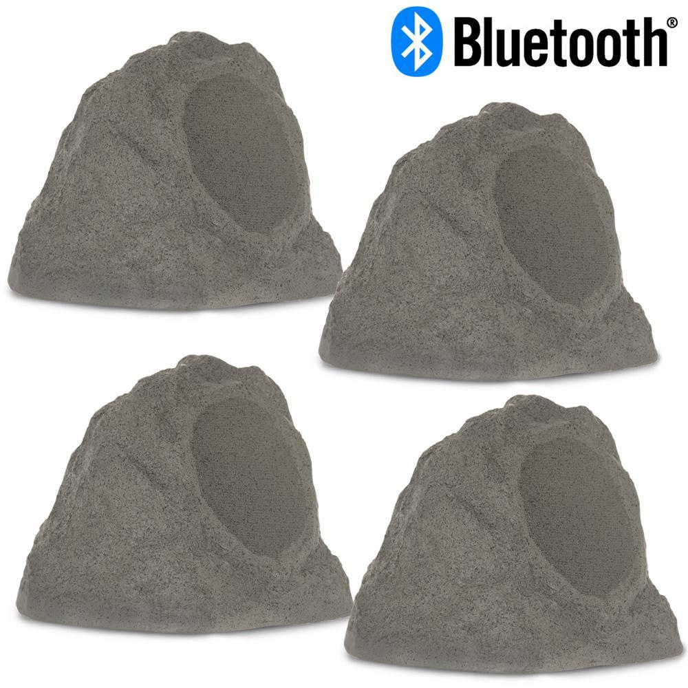 Fully Wireless 400-Watt Battery Bluetooth Rock Speaker (4-Set)